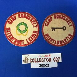 Boy Scout 2 Camp Roosevelt Patches Waterfront Leader Quartermaster Ncac