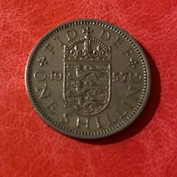 1957 Great Britain One Shilling Coin - English Crest