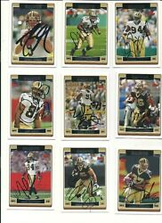 Brees First Year 2006 New Orleans Saints Topps Team Set Auto Signed 9 Cards