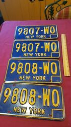 Two Ny New York License Plate Pairs 1966 1967 1968 1969 1970 1971 1972 1973 Yom