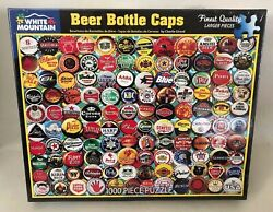 """New And Sealed White Mountain Beer Bottle Caps 1000-piece Jigsaw Puzzle 24x30"""""""