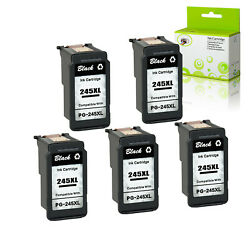 5pk Pg-245xl Remanufactured Black Ink Cartridge For Canon Mg2922 Mg2920 Ts3322