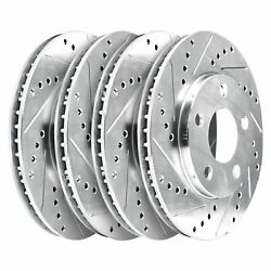 For 2001-2006 Bmw M3 Hart Brakes Front Rear Drilled Slotted Brake Rotors