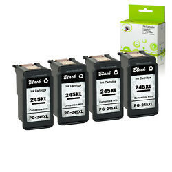 4pk Pg-245xl Remanufactured Black Ink Cartridge For Canon Mg2922 Mg2920 Ts3322