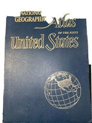 Vintage 1960 National Geographic Atlas Of The Fifty United States Full Color