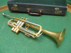 Holton Resotone Trumpet 1939 - Extremely Rare - Original Case And Holton 67 Mp