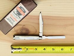 2000 Schatt And Morgan Pearl Doctors Or Physicians Knife 052166 Gold Blade Etch