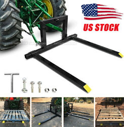 3 Point Tractor Pallet 2x 47andrdquo Forks Hitch Category 1 Tractor Mover Attachments