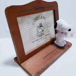 Showa Retro Snoopy Made Of Wood Photo Frames Woodstock Vintage Figure Objects