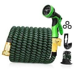 Upgraded Expandable Garden Hose, 100 Ft, 3/4 Solid Brass Connectors, 10 100 Ft