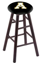 Holland Bar Stool Co. Maple Counter Stool In Dark Cherry Finish With Appalach...