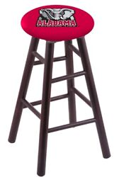 Holland Bar Stool Co. Maple Counter Stool In Dark Cherry Finish With Alabama ...