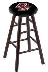 Holland Bar Stool Co. Maple Counter Stool In Dark Cherry Finish With Boston C...