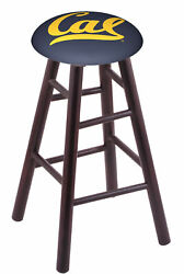 Holland Bar Stool Co. Maple Counter Stool In Dark Cherry Finish With Cal Seat