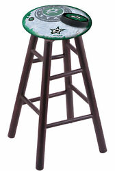 Holland Bar Stool Co. Maple Counter Stool In Dark Cherry Finish With Dallas S...
