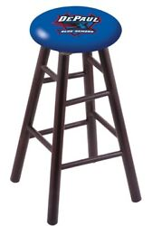 Holland Bar Stool Co. Maple Counter Stool In Dark Cherry Finish With Depaul Seat