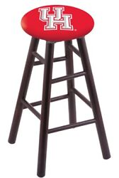 Holland Bar Stool Co. Maple Counter Stool In Dark Cherry Finish With Houston ...