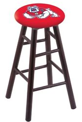 Holland Bar Stool Co. Maple Counter Stool In Dark Cherry Finish With Fresno S...