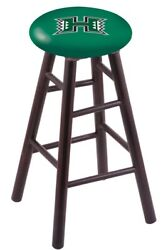 Holland Bar Stool Co. Maple Counter Stool In Dark Cherry Finish With Hawaii Seat