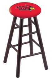 Holland Bar Stool Co. Maple Counter Stool In Dark Cherry Finish With Illinois...