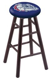 Holland Bar Stool Co. Maple Counter Stool In Dark Cherry Finish With Gonzaga ...