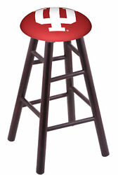 Holland Bar Stool Co. Maple Counter Stool In Dark Cherry Finish With Indiana ...