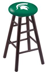Holland Bar Stool Co. Maple Counter Stool In Dark Cherry Finish With Michigan...