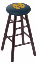 Holland Bar Stool Co. Maple Counter Stool In Dark Cherry Finish With Notre Da...