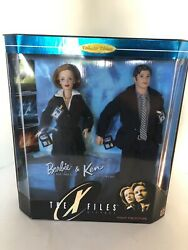 1998 Barbie And Ken The X-files Giftset Collector Ed Scully Mulder 19630- B24