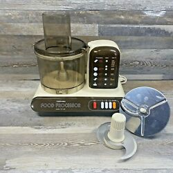Vintage 1984 Toshiba Food Processor Model Tfp-1200 Tested And Working No Pusher