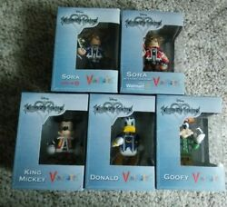 Disney Kingdom Hearts Set Vinimates By Diamond Select Toys Complete All In Boxes