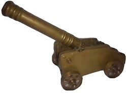Solid Brass 16 Cannon 13 Barrel Mcm 18th Century Style Cannon