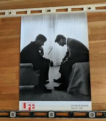 Senator John F Kennedy Conferring With His Brother Bobby Poster 34x24
