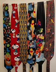 Collectible And Vintage Collection Of Mens Neck Ties