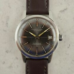 C.1965 Vintage Marshall Field And Co Automatic Compressor Divers Watch In Steel
