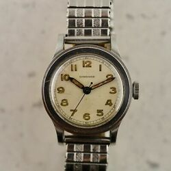 C.1942 Vintage Longines Wwii Military Tre-tacche Ref. 21979 Watch In Steel
