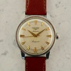 C.1956 Vintage Longines Automatic Conquest Watch Cal.19as Ref. 9000-8 In Steel