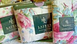 Rare 1990's New Nip  Water Floral Queen Sheet Set Complete