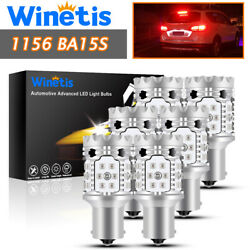 6x 1156 Led Backup Reverse Turn Signal Light Bulbs Parking Drl Lamp Red 30smd