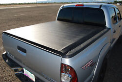 Roll-up Vinyl Tonneau Bed Cover For 2007-2021 Toyota Tundra Double Cab 6.6ft Bed