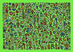 Mr. Doodle Alien Town Print Signed Numbered Edition Of 300 In Hand