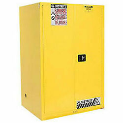 Flammable Cabinet With Self Close Double Door, 90 Gallon