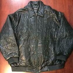 Rare Item Pellepelle Big Size Leather Jacket Purple Gang Shipping From Japan