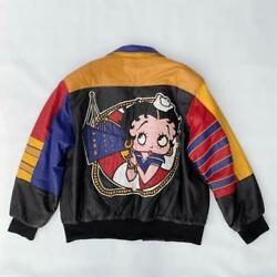 Rare Item Jeff Hamilton Betty Boop Reversible Leather Jacket Shipping From Japan