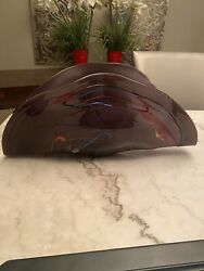 Murano Glass Centerpiece Abstract White Cristal Hand Made In Italy Rare Vintage