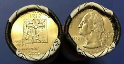 2008 New Mexico Pandd State Quarter U.s.mint Rolls [golden Toned End Coins]