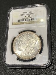 1883-s Morgan Silver Dollar Ngc Ms-62 Redfield Hoard Collection Rare