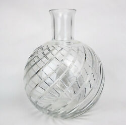 """Baccarat France Crystal Cyclades Swirl 7 1/2"""" Vase Decanter Water Pitcher Signed"""