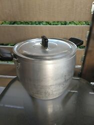 Vintage Aluminum O.p.c Made In Italy Xlarge Cooking Pot 26 Qt