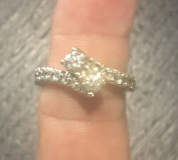 14k White Gold Andlsquoever Usandrsquo Diamond Ring With Connecting Bands Jared Jewelers